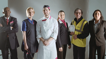 A group of Sodexo employees wearing uniform